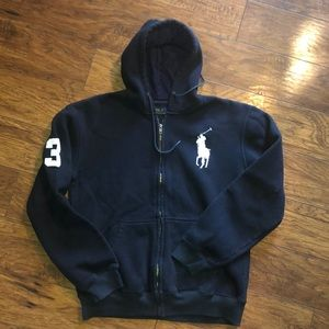Men's polo Ralph Lauren   zip up hooded sweatshirt